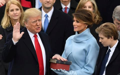 Donald J Trump is Inaugurated as the 45th President of the United States