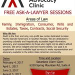 Free Ask-A-Lawyer Sessions – December 2, 2017
