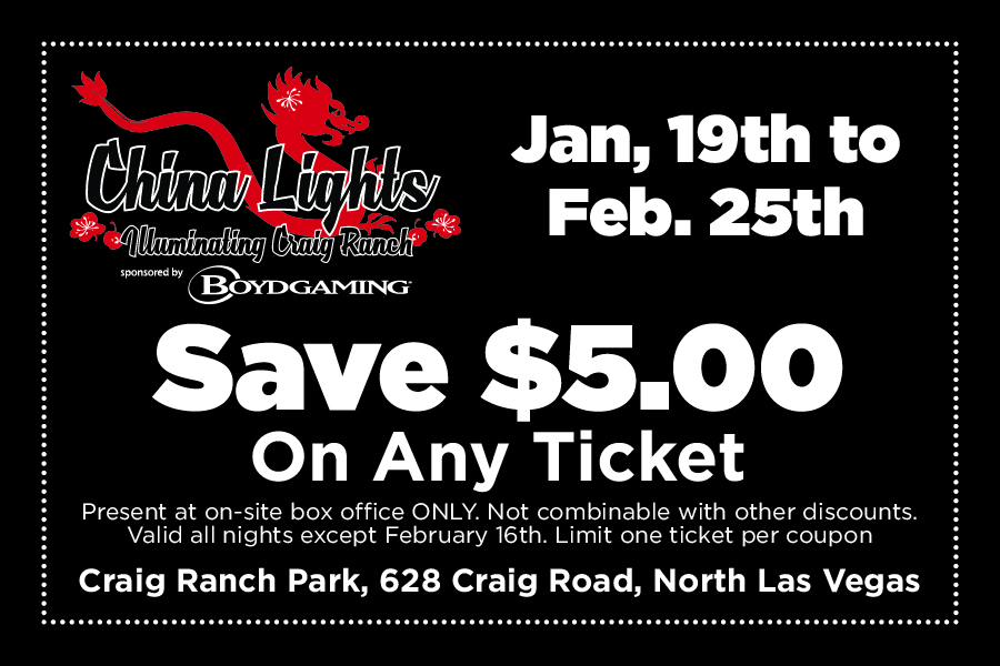 China Lights Festival Las Vegas COUPON